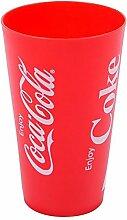 1x Becher ''Coca Cola'' rot  