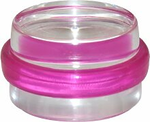 "1x Bodentürstopper CLEAR """"Ø38mm/H22mm"""" COLOR PINK"