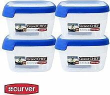 1x Curver Frischhaltedose Frischhaltebox Vorratsdose Grand Chef kompakt 1,2 L, Menge Sets:4er Se