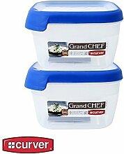 1x Curver Frischhaltedose Frischhaltebox Vorratsdose Grand Chef kompakt 1,2 L, Menge Sets:2er Se