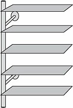 1x Design Regalelement Haushalt, Regal