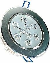 1x LED Spot Einbauleuchte EEK A 9W rund kaltweiss - Einbau Strahler Set Decken Leuchte Lampe