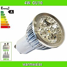 1x LEDVero 4W (4x1W) HIGH POWER GU10 LED SPOT Lampe Strahler Licht Warmweiss