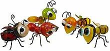 1x Metall Figur Deko Insekt klein bunt Käfer Wespe Ameise L 12-16 cm (1Stück)