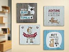 1x Metallschild Katze Spruch:Nett kann ich auch,bringt aber nix 19x19cm Spruch Geschenk Dekoration
