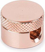 1x Stück   Aufputz-Kabelhalter aus Messing (verkupfert)   Kabelaufhängung für Textilkabel