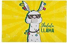 1x Tischset Llama - Gelb | Lama Geschenk |
