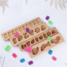1x Zahlen DIY Holz Baking & Pastry Werkzeuge