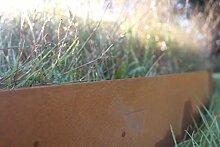 2,0 mm Cortenstahl Rasenkante Beeteinfassung 117 cm