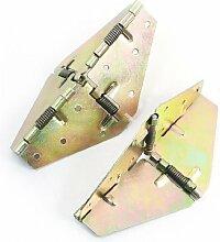 211,4cm KLAPPFEDER geladen Wandschrank Schrank Tür Scharnier Messing Tone