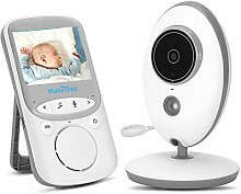 "2.4 GHz Babyphone Kamera 2.4"" HD Digital Video-Babyphone Mit VOX Funktion Wireless Monitor Weiß"