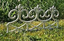 2,40 m Zaun = 4 Stück Zaun Gartenzaun Friesenzaun in Braun oder Weiß Wetterfest / Frostsicher (Weiß)