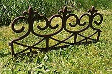2,40 m Zaun = 4 Stück Zaun Gartenzaun Friesenzaun in Braun oder Weiß Wetterfest / Frostsicher (Braun)