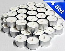 2.400 NK Teelichte, 4 Stunden Brenndauer, Weiß,