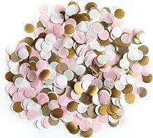 2,5cm rund Papier Konfetti Party Hochzeit Tisch Dekoration rose gold