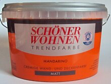 2,5 L Schöner Wohnen Trendfarbe, cremige Wandfarbe, Mandarino Ma
