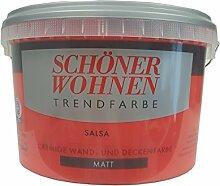 2,5 L Schöner Wohnen Trendfarbe, cremige Wandfarbe, Salsa Ma