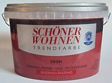 2,5 L Schöner Wohnen Trendfarbe, Wandfarbe, Ziegel, Seidenglänzend