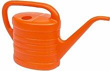 2,5 Liter Blumen Giesskanne klein Kunststoff Kanne orange Blumengießer Handgießkanne