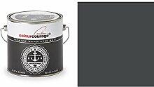 2,5 Liter Colourcourage Premium Wandfarbe Black