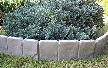 2,5 Meter Garten Palisaden Beetumrandung grau