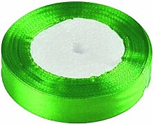 2.5cm 25 Yards / Rolle Ripsband Geschenk Verpackungs Dekoration Weihnachtsband Dekor Glanz Grün