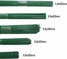 2,5kg Blumendraht grün lackiert Steckdraht Basteldraht Bindedraht alle Größen, Ausf:0.9 x 350mm