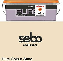 2,5l Alpina Pure Color Sand Trend Wandfarbe Seidenglänzend #20