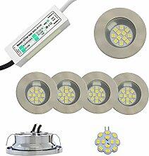 2-5x LED Halogen 2W Einbaustrahler mit Netzteil
