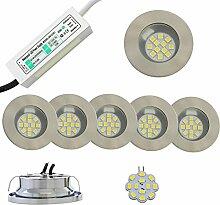 2-5x LED Halogen Einbaustrahler mit Netzteil und