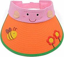 2-7 Jahre alt Kind Sommer- Baumwolle Leeren Hut Großer Hut Sonnenschutz Sonnenhut ( Farbe : 4 )