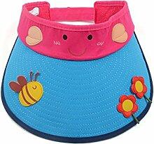 2-7 Jahre alt Kind Sommer- Baumwolle Leeren Hut Großer Hut Sonnenschutz Sonnenhut ( Farbe : 1 )