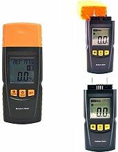 2-70% Digital Holz Feuchtigkeitsmesser, GOCHANGE Holzfeuchte Messgerät / Thermo Hygrometer / Holzfeuchte Tester Detektor / Brennholz Protokolle Holzfeuchtigkeitsmessgerät für Holz, Sheetrock, Teppich