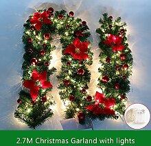 2.7m Weihnachtsgirlande Tannengirlande Mit