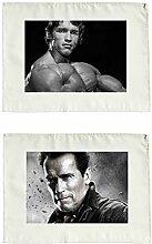 2 Arnold Schwarzenegger Stoffservietten Se