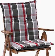 2 Auflagen fuer Niederlehner Sessel 103 x 52 cm Miami 90543-700 in grau (ohne Stuhl)