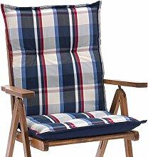 2 Auflagen fuer Niederlehner Sessel 103 x 52 cm Miami 90545-100 in blau (ohne Stuhl)