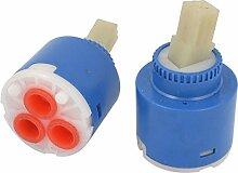 2Badezimmer Kunststoff Shell Wasser Wasserhahn Wasserhahn Cartridge Ventil