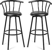 2 Barhocker Bar Sitze mit 360 Grad drehbarer
