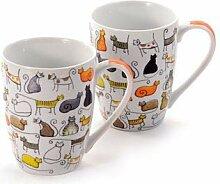 2 Becher Dodo - Teebecher - Kaffeebecher - Katzen