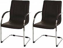 2 Besucherstühle braun Schwingstuhl Konferenzstuhl Praxisstuhl Freischwinger