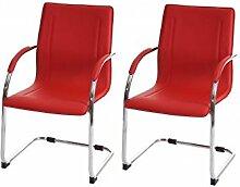 2 Besucherstühle rot Schwingstuhl Konferenzstuhl Schwinger Freischwinger