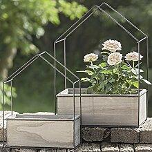 2 Blumentöpfe Haus Pflanztopf Übertopf