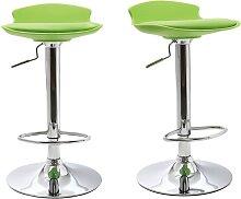 2 Design-Barhocker Grün NOVA