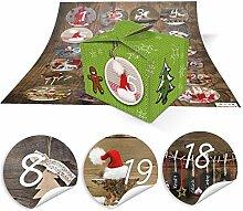 2 DIY Adventskalender Weihnachten Bastel-Set: 48
