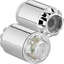 2 Dynamo-LED-Wasserhahnaufsätze zur