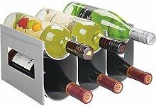 2 Ebenen Kunststoff Freistehende Weinregal,