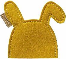 2 Eierwärmer Hase Kaninchen gelb aus Wollfilz -