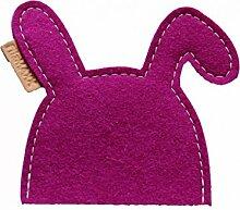 2 Eierwärmer Hase Kaninchen pink aus Wollfilz - Geschenkidee