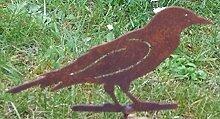 2 Eisenvögel Rost mit Schraube zum Eindrehen